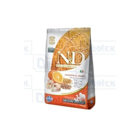 Farmina - Natural & Delicious Adult Low-Grain Merluzzo e Arancia 800gr