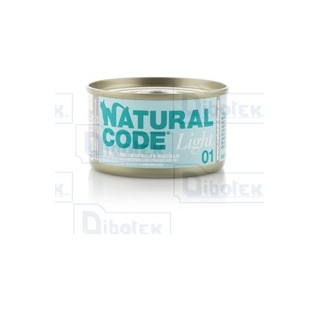 Natural Code - 01 Light Tonno, Bacche di Goji e Mirtillo - 1 Lattina 85 gr