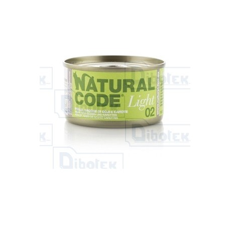 Natural Code - 02 Light Pollo, Bacche di Goji e Carote - 1 Lattina 85 gr