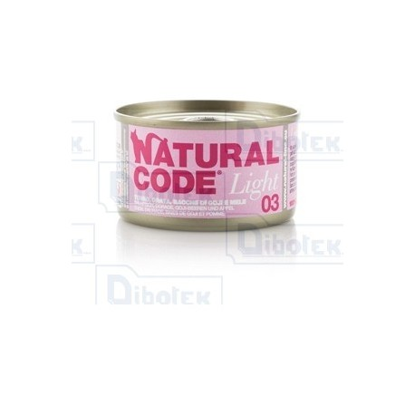 Natural Code - 03 Light Tonno, Orata, Bacche di Goji e Mele - 1 Lattina 85 gr