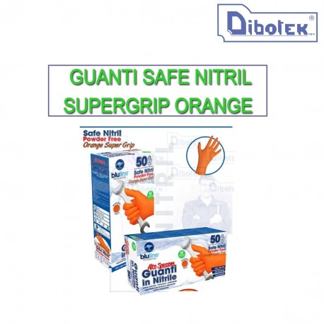 Guanti Safe Nitril Supergrip Orange XXL