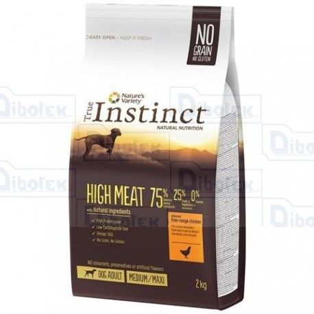 Instinct Dog High Meat Adult Pollo 2Kg
