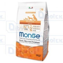 Monge - All Breeds Adult Anatra e Riso 2,5Kg