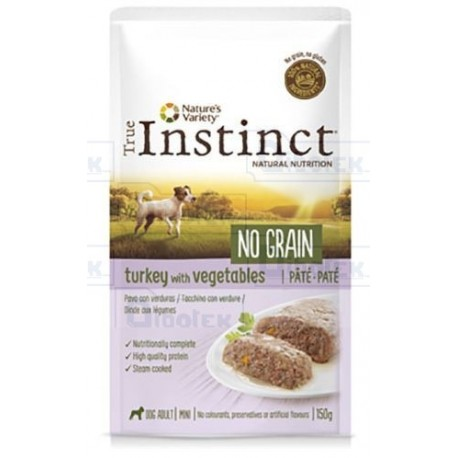 Instinct Dog Mini Tacchino Pate' 150Gr