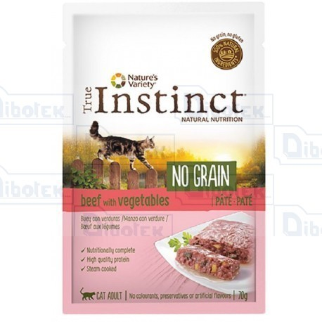 Instinct Cat No Grain Manzo Pate' 70Gr