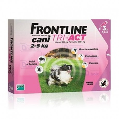 Frontline Tri-Act 2-5Kg 3 Pip 0,5Ml