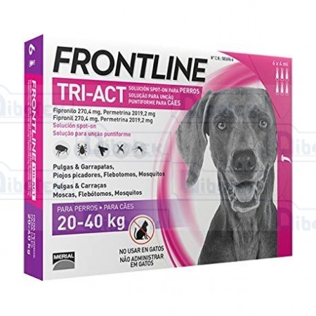 Frontline Tri-Act 20-40Kg 6Pip 4Ml