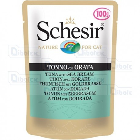 Schesir - Cat Adult Tonnetto con Orata Jelly Gr.100