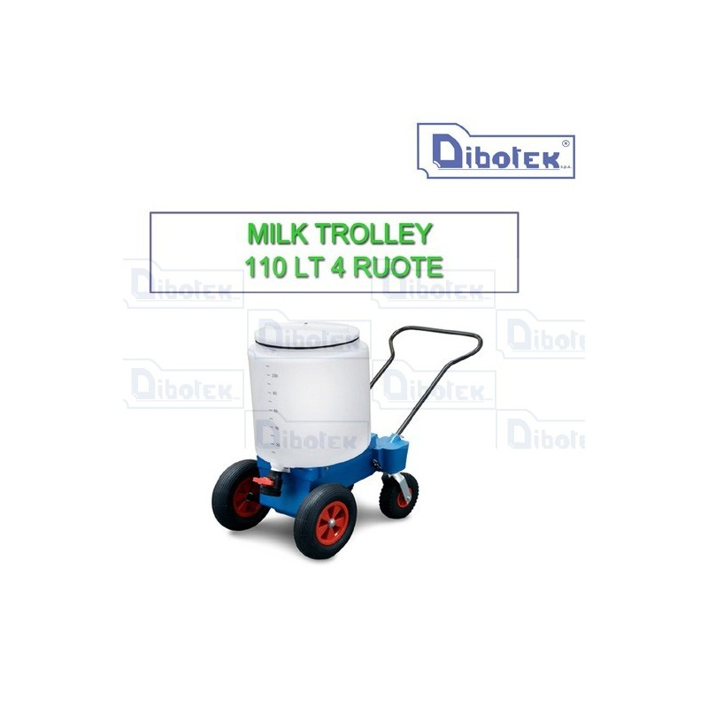 Milk Trolley 4 Ruote Lt.110