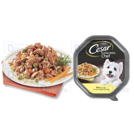 Cesar dog chef pollo e riso integrale 150 gr
