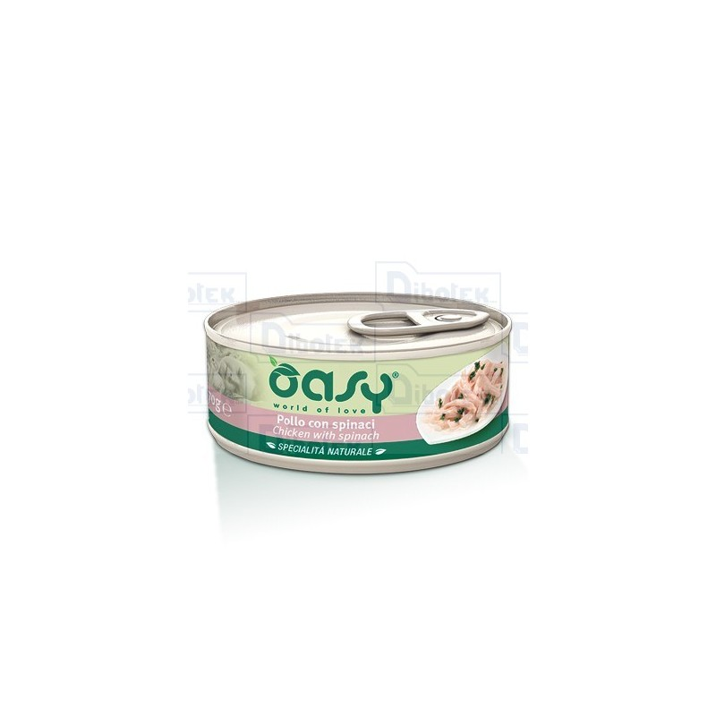 Oasy cat adult pollo e spinaci gr 70