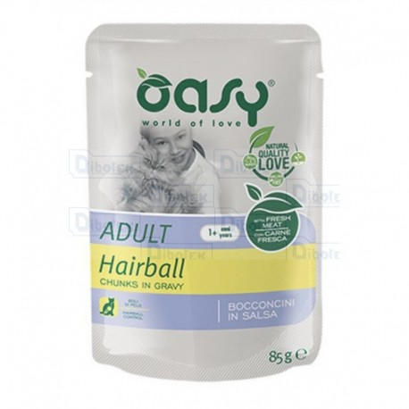 Oasy cat adult bocconcini hairball