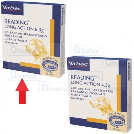 Virbac - Collare Reading Long Action Cani Cm.70