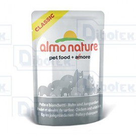Almo Nature - HFC Natural Pollo e Acciughine - 1 Confezione | 6 Bustine da 55 gr
