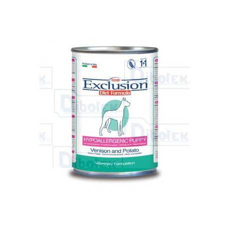 Exclusion - Diet Hypoallergenic Puppy & Junior con Cervo e Patate 200gr