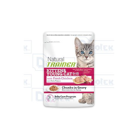 Trainer - Natural Kitten & Young con Pollo Fresco 85gr