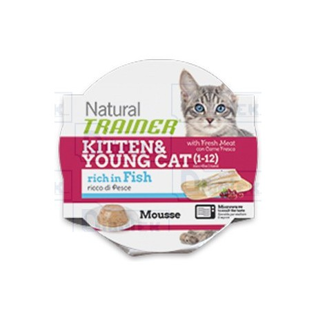 Trainer - Natural Kitten & Young Cat Ricco di Pesce 85gr