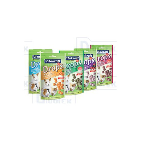 Vitakraft - Drops con Yogurt ai Frutti di Bosco 75gr