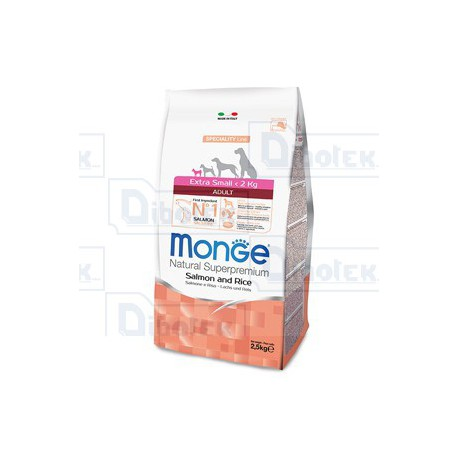 Monge - Extra Small Adult Salmone e Riso 800gr