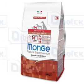 Monge - Natural Superpremium Mini Puppy & Junior Agnello e Riso - 1 Sacchetto 800 gr