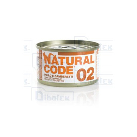 Natural Code - 02 Pollo e Gamberetti - 1 Lattina 85 gr