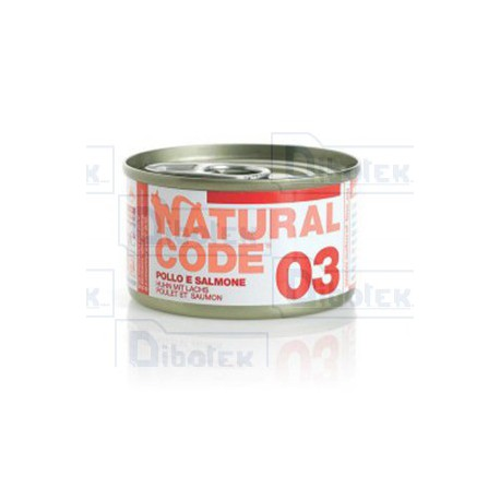 Natural Code - 03 Pollo e Salmone - 1 Lattina 85 gr