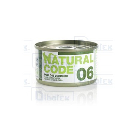 Natural Code - 06 Pollo e Verdure - 1 Lattina 85 gr