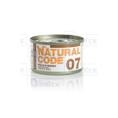 Natural Code - 07 Pollo e Manzo - 1 Lattina 85 gr