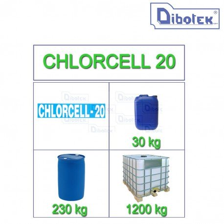 Chlorcell 20 detergente mungitrice