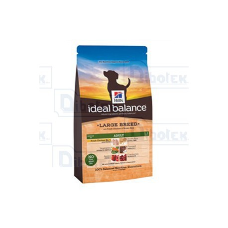 Hill's - Ideal Balance Adult Large Breed Pollo e Riso Integrale 12kg